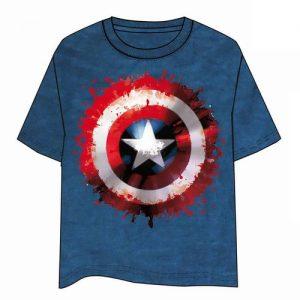 Camiseta Capitán América Escudo Comic