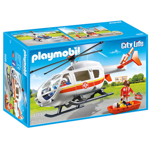 Helicóptero médico emergencias Playmobil City Life