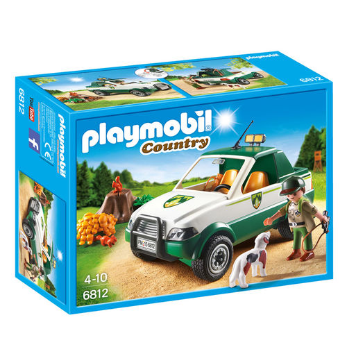 Guardabosque con Pick up Playmobil Country