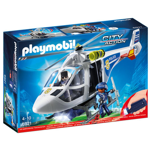 Helicoptero de Policia con Luces LED Playmobil City Action