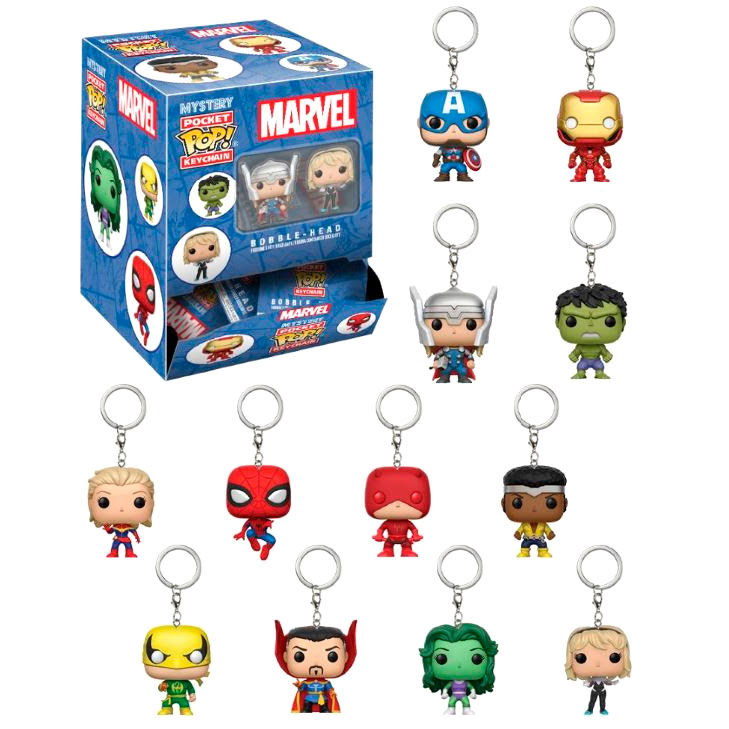 Llavero Pocket Pop Marvel Blindbags